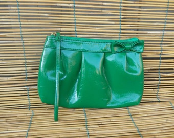 Vintage Mini Green Faux Leather Hand Bag Purse