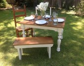 """The """"Petite"""" Plantation Farm Table - Handmade with Reclaimed Wood by Arcadian Cottage"""
