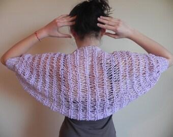 Shrug Vest Bolero Hand Knitted Spring Summer