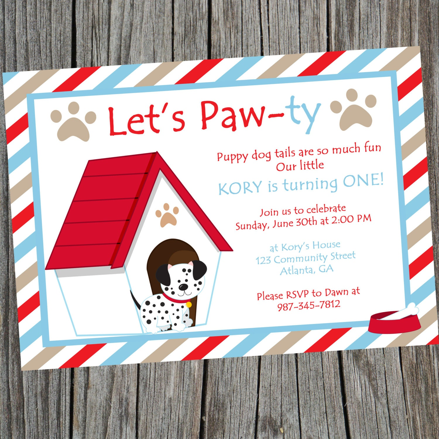 puppy dog birthday party invitation. printable puppy themed, Party invitations