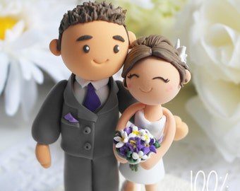 Custom Wedding Cake Topper - Purple theme wedding