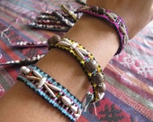 Karen Beads Embroidery Bracelet /Hippie /Boho/butterfly /Woven/Embroidery/Wholesale