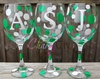 Personalized Wine Glass 20 oz New York Jets