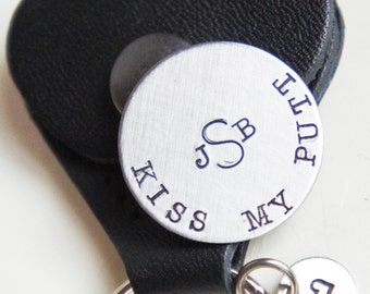 Custom Golf Ball Marker Keychain Personalized Golfer's Gift Monogrammed Initial Kiss My Putt Magnetic Ball Marker Gift for Him