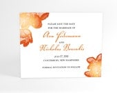 Save The Date Cards with Blooming Watercolor Flower Blossoms, Summer or Spring Wedding, Luscious Shiney Blooms, Fun and Cute In Your Color