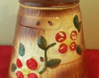 American Bisque Cookie Jar Butter Churn Cookie Jar Country Kitchen Cottage Kitchen