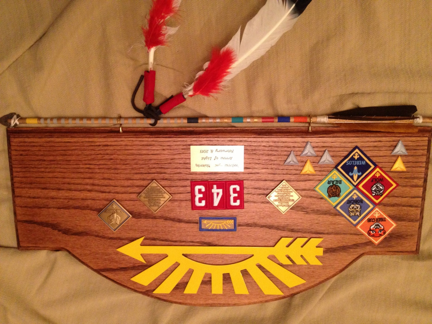 cub scout arrow of light award plaque 3 by headbergwoodcrafts. Black Bedroom Furniture Sets. Home Design Ideas