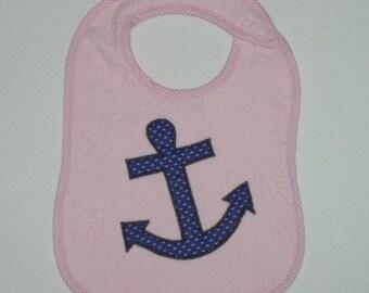 Anchor Toddler Bib - Ships Anchor Appliqued Terrycloth Toddler Bib