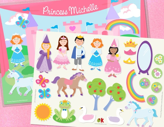 Olive Kids Personalized Princess Play Mat