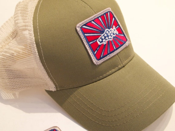 Sage patriot trucker hat raised patch patriot trout for Sage fly fishing hat