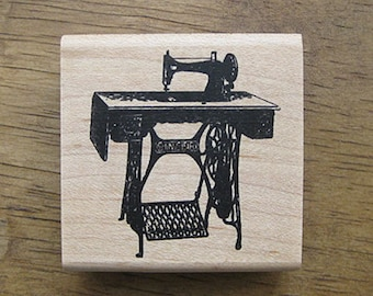 Antique Sewing Machine Rubber Stamp