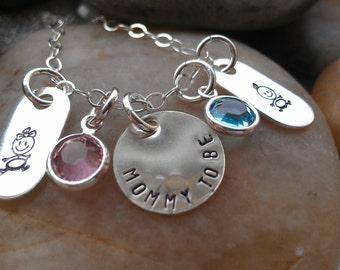 Gender Reveal Party Jewelry New Mom Jewelry Baby