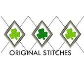 Argyle Shamrock Applique and Machine Embroidery Digital Design File 4x4 5x7 6x10 7x11