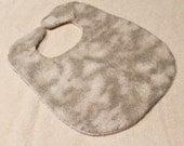 Grey Flannel Baby Bib