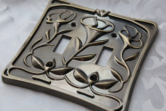 Light Switch Plate Cover Art Nouveau Style