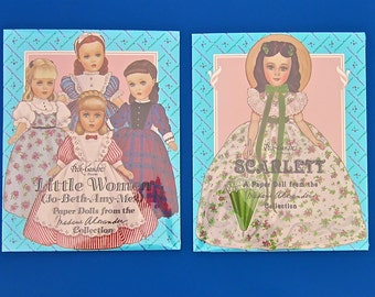 Little Women OR Scarlett O'Hara Paper Dolls by Peck-Gandre