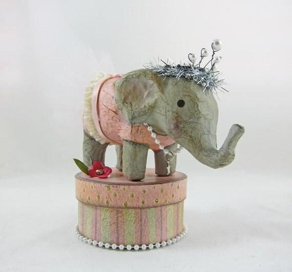 CUSTOM Ballerina Elephant with Pink Tutu