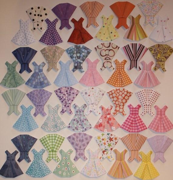 Origami Dresses - 10 Hand Folded Mini Dresses