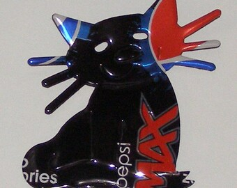 Cat - 'Whiskers' - Black Pepsi MAX Soda Can Magnet (R)