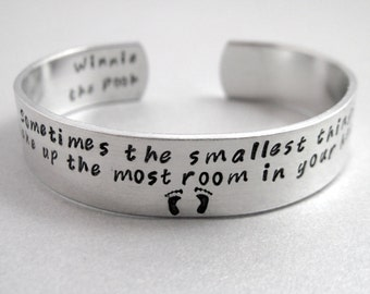 Mothers Winnie the Pooh bracelet - The Smallest Things - Aluminum cuff