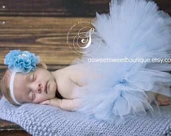 Blue Tutu Baby Blue Tutu Set Light Blue Tutu Pale Blue Tutu Blue Baby Girl Tutu Baby Blue Tutu Newborn Tutu And Headband Newborn Photo Prop