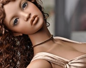 Brown and Gold singlet choker for Iplehouse EID or SID BJD dolls