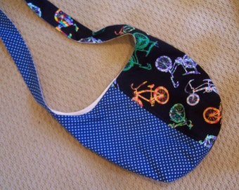 Psychedelic Bikes Cross Body Bag, Sling Tote, Hobo bag, Shoulder Sling Market Tote