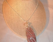 Granite Wire Wrapped Pendant Multi-Colored