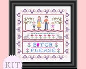 KIT Cross Stitch funny sampler