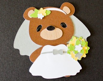 Teddy Bear Die Cut - BRIDE