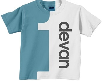 Perstonalized Birthday Shirt, Childrens Number T-Shirt, Boy or Girl, 1st 2nd 3rd 4th 5th 6th 7th 8th 9th Birthday