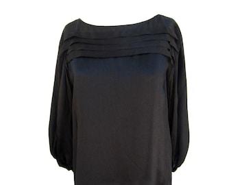 Silk Diane Von Furstenburg Blouse vintage women's small black