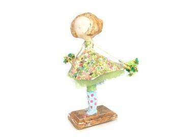 Handmade Collectible Art Doll Whimisical Girl Keepsake