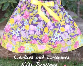 Girls cotton skirts great for summer,spring and fall pictures,preschool,kindergarden, back to school outfit