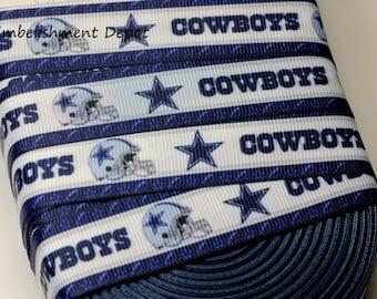 """3 YARDS-7/8"""" Dallas Cowboy Grosgrain Ribbon-3 YARDS"""