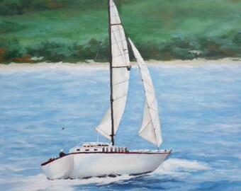 Sailing 16x24 Acrylic Canvas