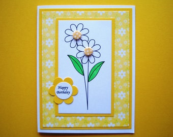 Two Daisies Birthday Card