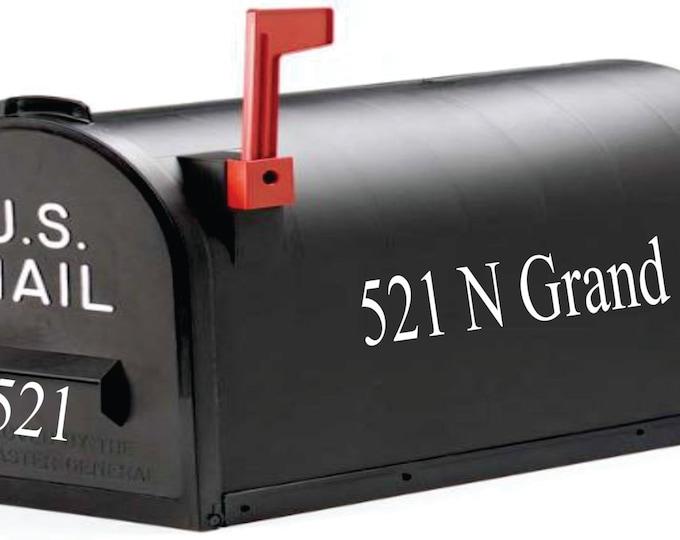 Small Decal - Mailbox Address Decal - Address Mailbox Decal - Personalized Mailbox Decal