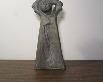Vintage White Metal Angel or Woman Sever Austin Statue