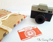 Grey Retro Camera Stamp