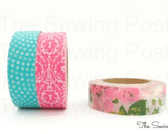 Washi Tape Set: Jeweled Flower