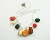 Dried Fruit And Nut Necklace. Polymer Clay.