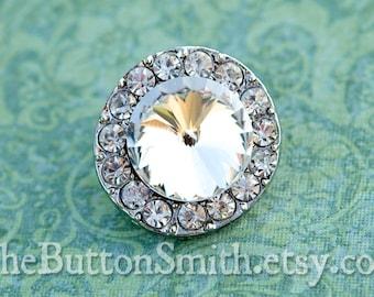 "Rhinestone Buttons ""Gabrielle"" (25mm) RS-022 - 5 piece set"