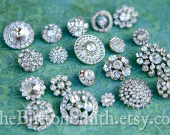 Rhinestone Buttons Mix - Round Collection - 106 - 40 piece set