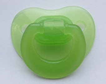 """Reborn Doll Putty Pacifier, Green  """"Fisher-Price"""" With Putty & Instructions"""
