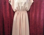 Vintage Dress 70s 80s Pink Pretty Party Dress