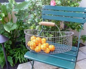 Vintage Wire Basket Rustic Garden Harvest Basket Farm Veggie Basket French