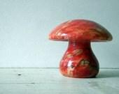 Vintage Red Marble Mushroom 1970s