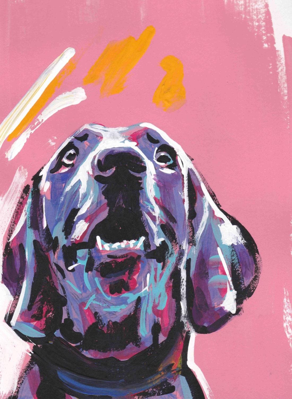 art de braque de weimar d 39 impression de peinture chien. Black Bedroom Furniture Sets. Home Design Ideas