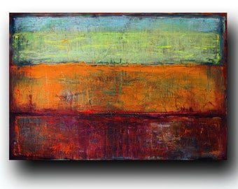 """Art  Abstract painting Canvas painting Contemporary painting  Original painting Color Gradation  24""""x36"""" Acrylic on Canvas fine art..."""